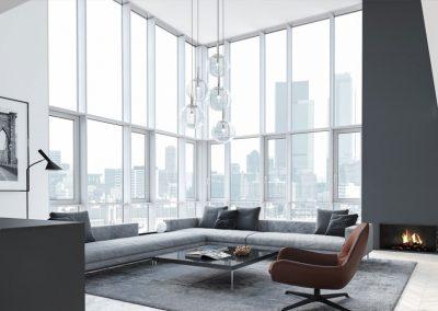 Renolux Design Luxury Condo Renovation Toronto Living Room